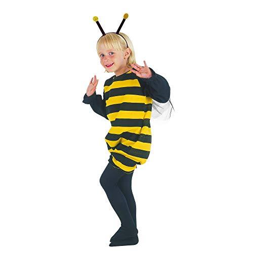 Bristol Novelty - Disfraz Infantil de Abeja para niños niñas (Tamaño Único) (Negro/Amarillo)