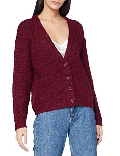 ESPRIT Damen 100EE1I334 Strickjacken, 600/BORDEAUX RED, XL