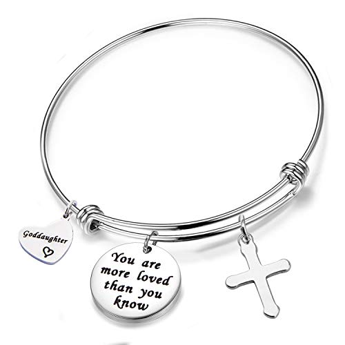 MAOFAED Goddaughter Gift You are more loved than you know Goddaughter Bracelet (Goddaughter bracelet)