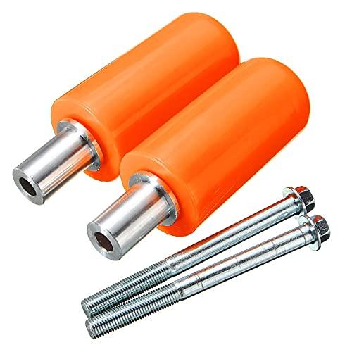 KJLYU para ya.ma.ha para su.zuki para hon.da para k.t.m para b.m.WA par 10mm Universal Universal Marco de Motocicleta Control Deslizante Anti Estrellado Protección de caída (Color : Orange)