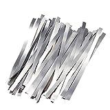 TECNOIOT 1Set 50pcs 0.15mmx8mmx100mm Pure Nickel Belt 99.96% Battery Spot Welding Nickel Strip