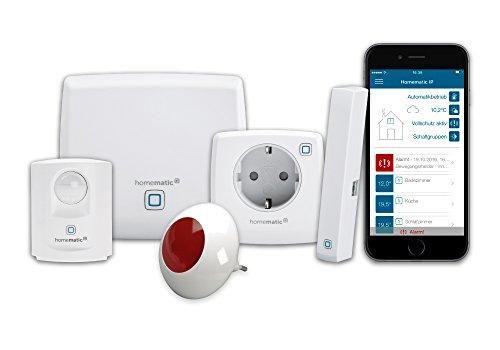 Homematic IP Smart Home Starter Set Sicherheit plus - Intelligenter Alarm auch aufs Smartphone