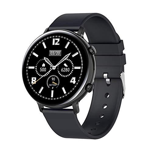 ZWW 2020 Táctil Completa Llamada Bluetooth IP68 A Prueba De Agua Smartwatch Hombres Adecuados para Android iOS del Teléfono Móvil del Reloj De Señoras, PPG + ECG Smartwatch,B