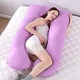 Almohadas de Maternidad en Forma de U Almohada cómoda para el Cuerpo del Embarazo para la Cama...