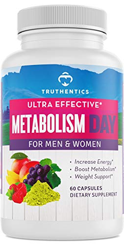 TRUTHENTICS Metabolism & Energy - Natural Aid for Slow Metabolism - Healthy Energy, Weight, Blood Sugar Formula – Supports Brain Function & Focus - Supplement for Women & Men - 60 Capsules