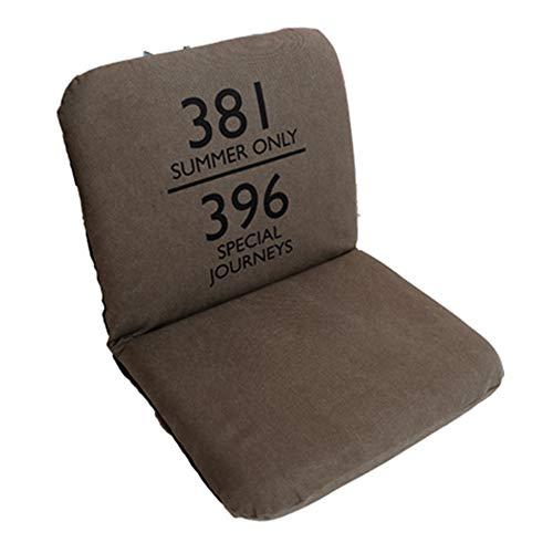 LJFYXZ Chaise de Sol Plier Individuel Fille Chambre Fauteuil Réglage à 5 Vitesses Facile à enlever et à Laver Confortable Chaise d'ordinateur (Couleur : Green)
