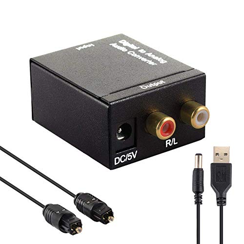 Amazing Deal DAC Digital Audio Converter, Digital Optical Coaxial Toslink to Analog Audio Converter ...