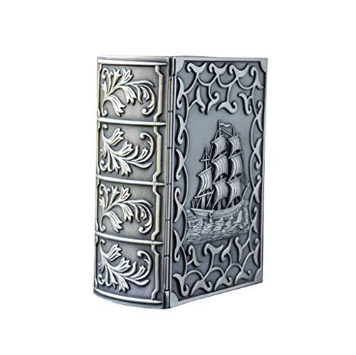 LIYANSNH-Schmuck Aufbewahrungsbox Personalisiertes Buch-Art-Segelboot, Das Antiken Schmuckkasten-Hochzeits-Geburtstags-Geschenk Schnitzt