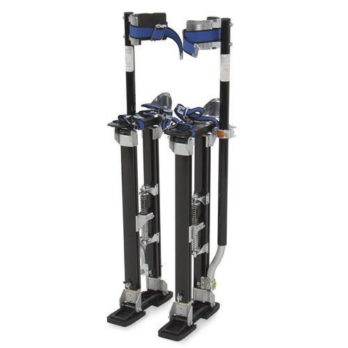 Best Choice Products SKY256 Drywall Stilts 24' to 40' Aluminum Tool Stilt for Painting Painter Taping Black