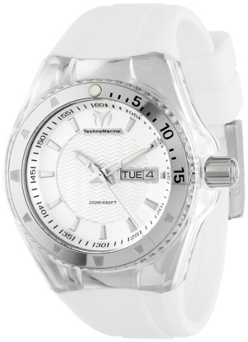 TechnoMarine Unisex 110045 Cruise Original 3 Hands Silver Dial Watch