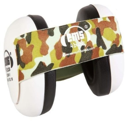 Em's 4 Bubs Hearing Protection Baby Earmuffs Size 0-18 Months (Army Camo Headband) by Em's