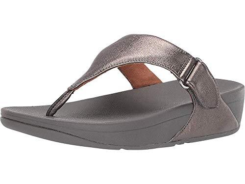 FitFlop Sarna Toe Thong Sandal Pewter 8