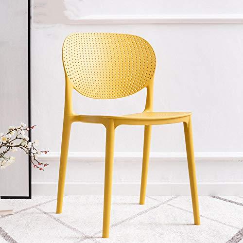 The best of us 2020 Nueva Silla de Comedor, hogar, Simple, Muebles de Restaurante, Respaldo para Adultos, Ocio, Silla de recepción de Oficina-Amarillo