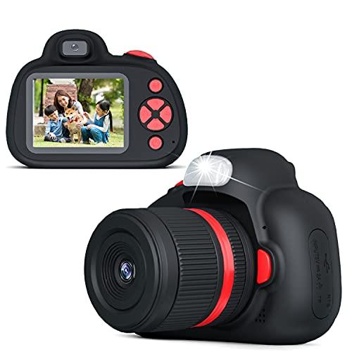 子供デジタルカメラ Mooho toi キッズカメラ 4800万画素 トイカメラ ズーム機能付 子供用カメラ 1080P動画記録 IPS画面 コンパクト 連写可 自撮り可 32GBメモリーカード フラッシュライト 夜景対応 USB充電 日本語説明書付(ブラック)