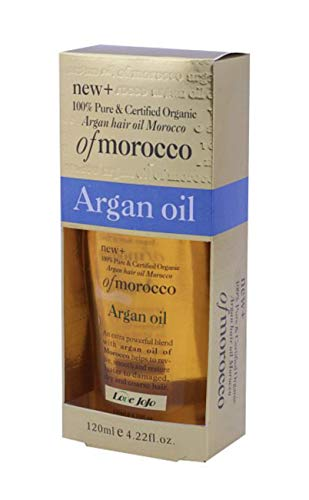 Love JoJo Pure Organic Moroccan Argan Oil For Hair 120ML Hair Smoothing and...
