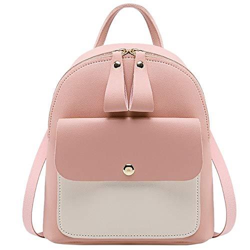 VICTOESimple Fashion Mini Schultertasche Damen Rucksack Schultertasche Kleiner Rucksack Portemonnaie Messenger Bag Handtasche, Rose (Pink) - VICTOE-1280