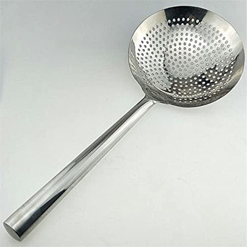 PPuujia Colander Long handle colander spoon cooker fried kitchen Large Big Mesh Strainer Cookware Oil Strainer Flour Sifter Colander Cooking wok (Color : 18cm)