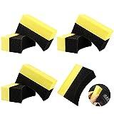 7Pcs Esponjas para Vehículos Esponja Sueve de Coche Lavado de Autos Esponja Reutilizable Esponja de Pulido del Cepillo para Limpiar el Coche Ventana Cocina(Negro+Amarillo)
