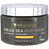 PraNaturals Dead Sea Mud Mask 550g 100% ORGANIC, NATURAL & VEGAN Certified, Cruelty-Free Cosmetic - Mineral-Rich, Hydrates, Detoxifies & Deeply Cleanses Skin Anti-Ageing, Suitable for All Skin Types