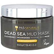PraNaturals Dead Sea Mud Mask 550g 100% ORGANIC, NATURAL & VEGAN Certified, Cruelty-Free Cosmetic - ...