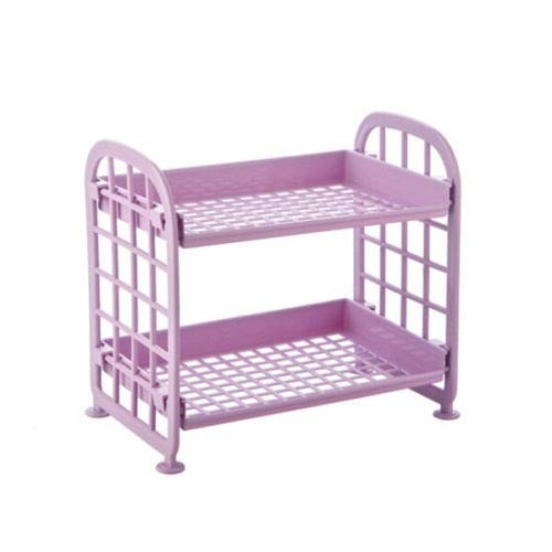 Guiping Estantería de plástico de 2 niveles para baño de ducha, caramelos, estante de cocina (color: B)