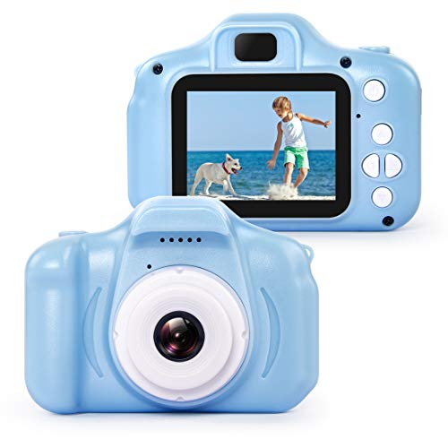 hyleton 子供用 デジタルカメラ トイ-興味カメラ 誕生日プレゼント 自ら成長を記録する 500万画素 2.0インチ 多機能 USB充電 日本語説明書付き 子供の日 誕生日 知育 教育 男女兼用(16GSDカート付き) (ブルー)
