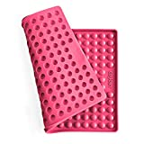 Collory Silikon Backmatte | 1.5cm Halbkugel Backform für Hundekekse Hundeleckerlies | Hitzebeständig 240°C | 40x29 | Lebensmittelecht (BPA-frei) | Pralinenform | Antihaftend … (Pink)