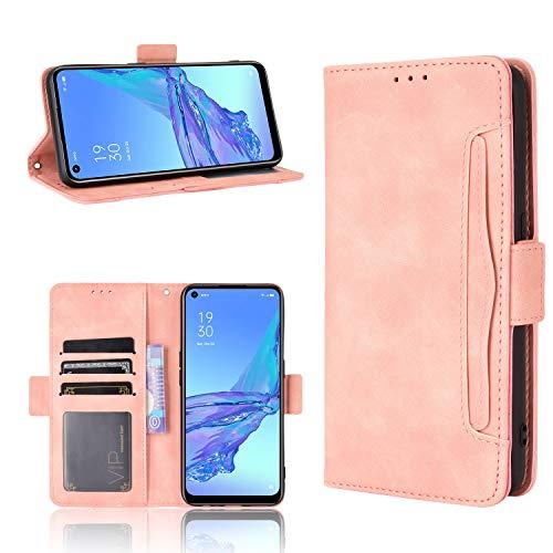 Wiko View 5/View 5 Plus Hülle [Brieftasche] [Klammerfunktion] [Kartenfächer] [Magnetic Flip Cover] Kompatibel mit Wiko View 5/View 5 Plus Smartphone(Rosa)