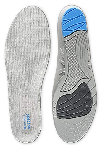 Sof Sole Insoles Men's WORK Anti-Fatigue Full-Length Comfort Shoe Inserts, Men's 8-13
