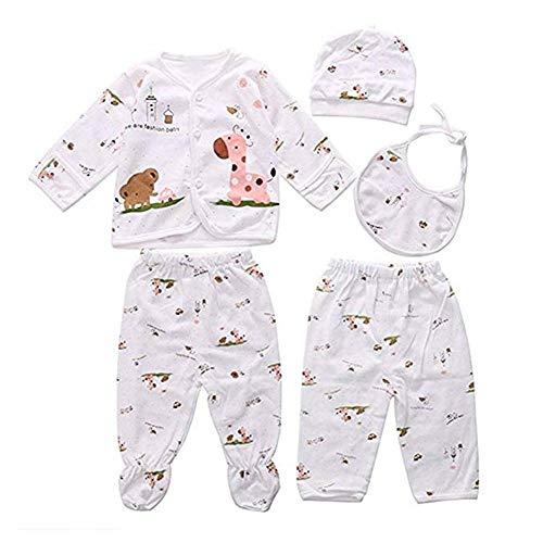 nvIEFE Neugeborenen Set Junge/Mädchen Baby Erstausstattung Cotton 5PCS Unisex Clothes Baby Geschenke Geburt Babykleidung Neugeboren Babyausstattung0-3 Monate (Rosa, 0-3M)