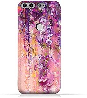 AMC Design Infinix Zero 5 X603 TPU Silicone Protective Case with Artistic Purple Flowers Pattern