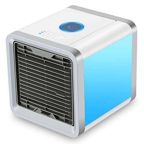 Condizionatore 3-in-1 Regolabile Mini Raffreddatore D'aria USB Evaporativo Dispositivo di Raffreddamento 7 Colori LED Dell'aria Umidificatore Ventilatore ad Aria Condizionata per Casa/Ufficio