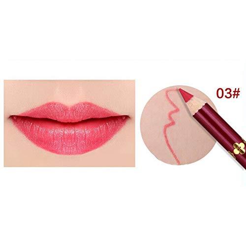 Yiwa Crayon imperméable à lèvres,Lipliner professionnel pour maquillage 3#