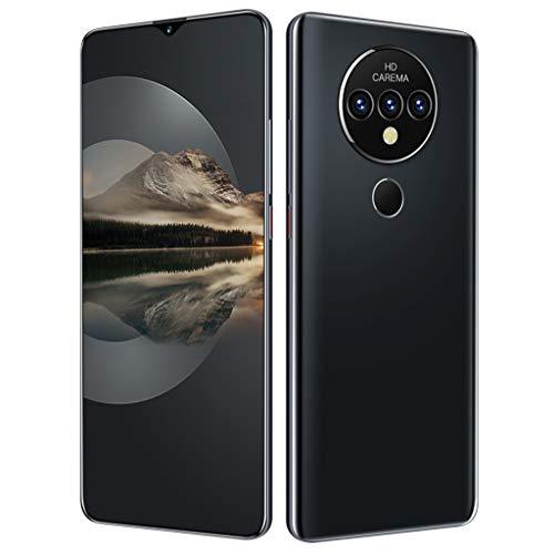 PNAYK Mate40pro Smartphone Pantalla Completa, Pantalla Gota Agua HD + 7.0' Celulares Desbloqueados, 4GB + 32GB con 4800mAh Batería Grande, Doble SIM Cámara Trasera Triple,Negro