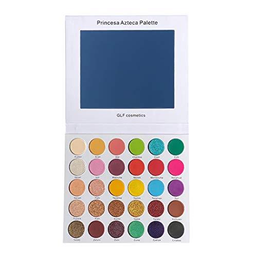 30 Farben Lidschatten, 30 Farben Perlmutt-Lidschatten-Palette, Shimmer Glitter Lidschatten-Puder-Palette Mattes Lidschatten-Kosmetik-Make-up,lidschatten palette 30, lidschatten palette glitzer