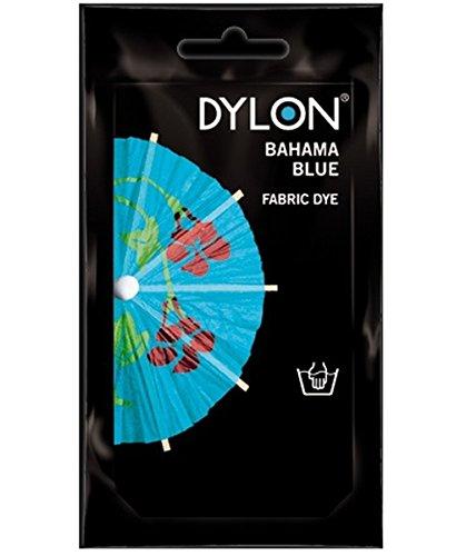 Dylon Stofffärbemittel, 50g, zum Färben von Kleidung und Stoffen per Hand Bahama Blue (21)