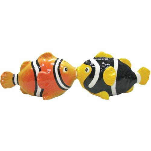 Westland Giftware Mwah - Set di saliera e pepiera magnetico per pesce pagliaccio, 5,1 cm