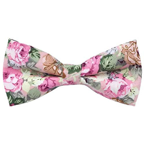DB Dickie Bow Pajarita de algodón con diseño floral rosa
