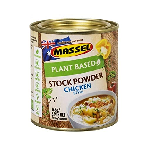 Massel, Stock Powder - No MSG, Gluten-Free, Chicken Flavour - 168 g, Pack of 6 Canned Soup Stock