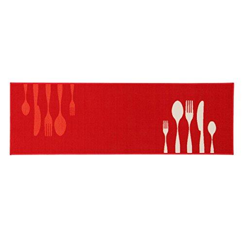 Carillo Tappeto da Cucina Passatoia Dinner Collection 50x80 cm M777 Rosso