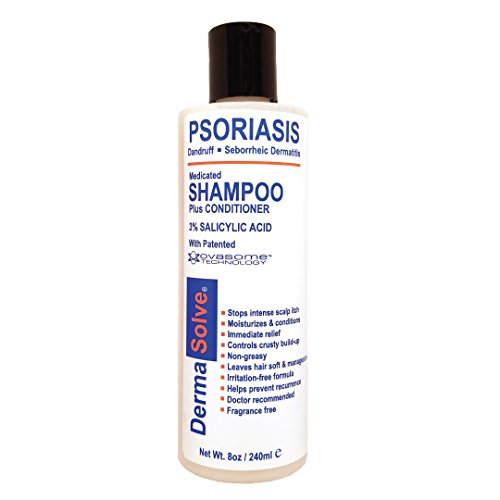 Dermasolve Psoriasis, Seborrheic Dermatitis & Dandruff Shampoo Plus Conditioner. Naturally Heals Itchy Flakey Inflamed Skin and Provides Soothing Moisturizing Relief. (8.0 oz)