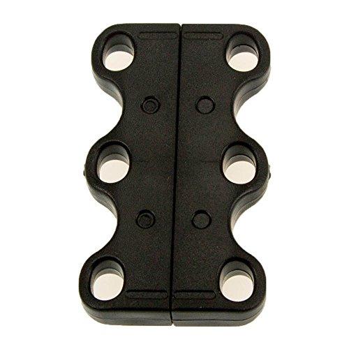 Le Care 2 Paar Magnetische Schuhbinder/Schnürsenkel-Clips, zum schnellen An- und Ausziehen von Turnschuhen 2 Paar (Schwarz)
