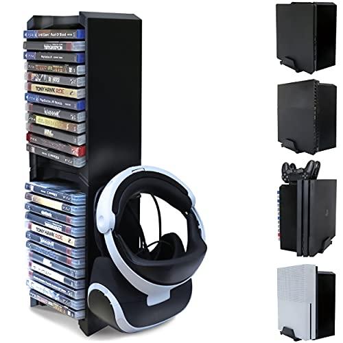PS4 Game Storage Tower - Universal Games Storage Tower - PS4 und Xbox One Game Storage Rack Speichert 24 Spiele oder Blu-Rays und PS4 VR-Brillen