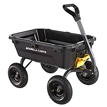 Gorilla Carts 7GCG-NF Poly Dump Cart Black