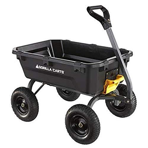 Gorilla Carts 7GCG-NF Poly Dump Cart, Black