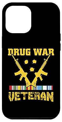 iPhone 12 Pro Max Veteran Shirt Drug War Tees Men Women Teens USA Freedom Gift Case