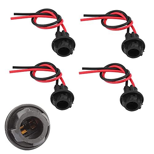 4 piezas T10 501 W5W LED bombilla de extensión de enchufe de coche adaptador de conector para coche conector de soporte de zócalo de la extensión de la bombilla de goma suave extensión de bombilla