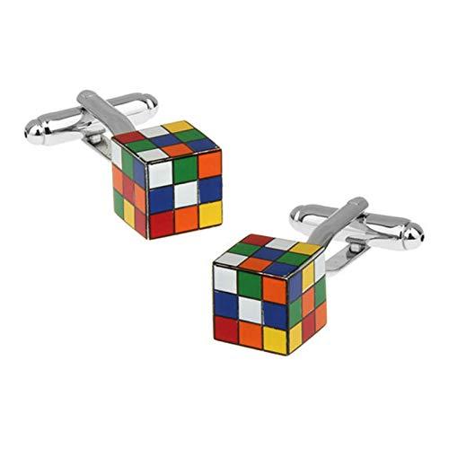 Gemelos de Boda Gemelos de Hombre para Camisa Cubo de Rubik Gemelo de Hombre Colorido