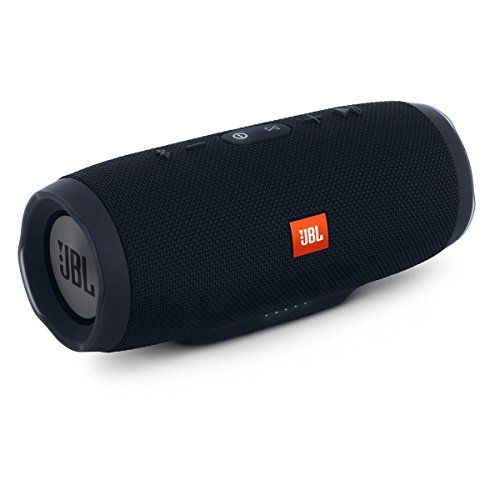 JBL Charge 3 Waterproof Bluetooth Speaker -Black (Renewed)