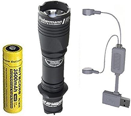 Combo  Armytek Dobermann Pro v3 XHP35 Hi Taschenlampe mit mit mit NL1835 Akku  A1 Ladegerät B07CZP7T8X | Quality First  7a3974